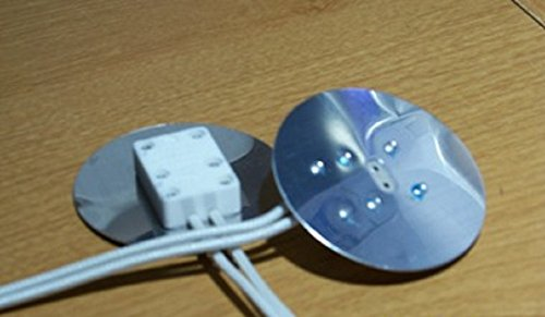Aluminum Faced Miniature Bi-Pin Socket with 2' diameter Heat Shield for MR16 Two Pin Halogen Light Bulbs