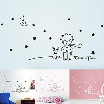 Pegatinas de pared Estrellas Luna El Principito Niño Rosa Caliente ...