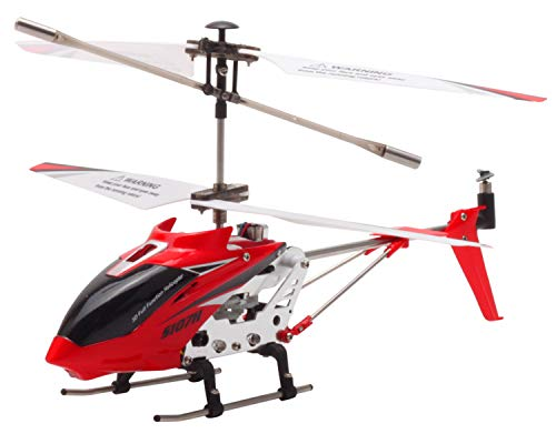 - POCO DIVO Replacement for SYMA S107 Altitude Hold S107H 2.4Ghz RC Helicopter One-Key Launching/Landing Beginner Flight Mini 3CH Metal Gyro Heli, Red