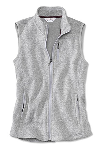 s Marled Sweater-Fleece Zip-Front Vest/Marled Sweater-Fleece Zip-Front Vest, Gray, X Large (Zip Front Sweater Vest)