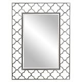 Howard Elliott 92008 Gaelic Rectangular Mirror, 30 x 40-Inch, Brushed Nickel For Sale
