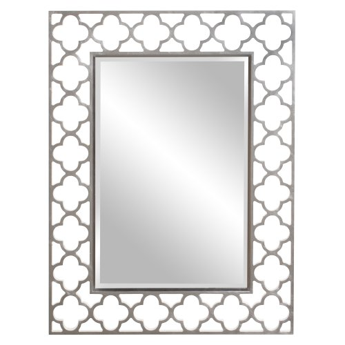 Howard Elliott 92008 Gaelic Rectangular Mirror, 30 x 40-Inch, Brushed Nickel