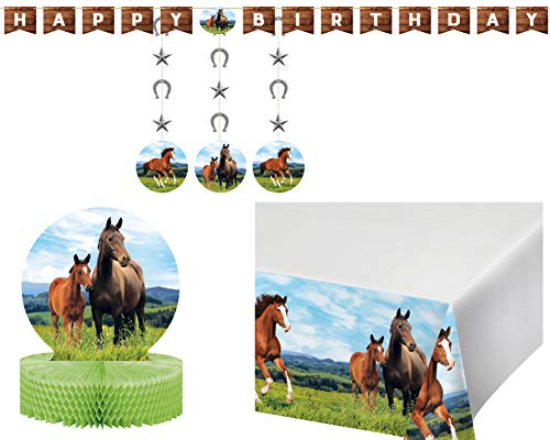 Wild Horses Birthday Party Supplies in a Horse
