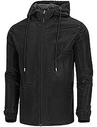c30097c21 Men's Lightweight Windbreaker Jacket Waterproof Hooded Outdoor Jackets  Casual Outwear