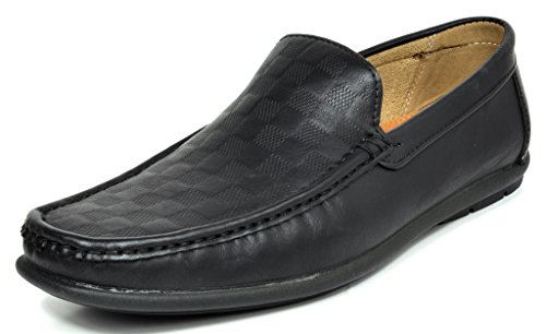 Bruno MARC MODA ITALY BENNETT New Men's Casual Slip On Driving Loafers Moccasins Shoes