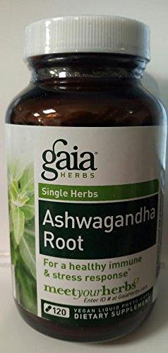 Gaia Herbs Ashwagandha Root Liquid Phyto-Capsules, 60 Count (120 Liquid Phyto Caps *NEW)