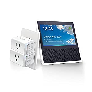 Echo Show - White + TP-Link Mini Smart Plug (2 Pack)