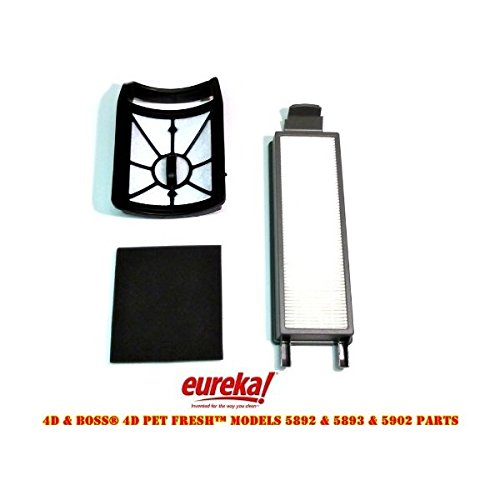 Eureka 4D Boss, Pet Fresh Bagless Upright Filter Kit. Fits 5892AVZ, 5892BVZ, 5893AVZ, 5893BVZ, 5902AVZ, 5902BVZ