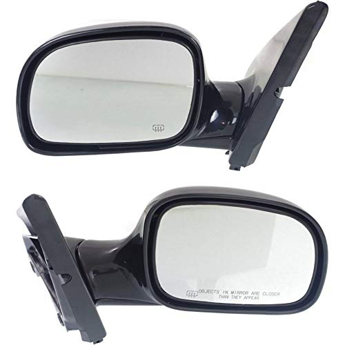 (Power Mirror compatible with Dodge Caravan 96-00 Right and Left Side Manual Folding Heated and Auto Dimming Paintable)