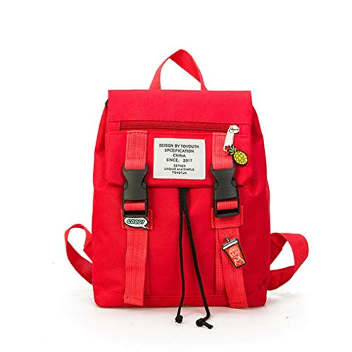 Preschool Backpack, Causal Retro Parent-Child Book Hiking Travel Bag Vertily (Red, Small) by Vertily Bag