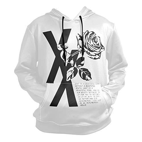 Nydia Hoodie,MGK T XX Shirt Flower Black Rose,Black,Men Women Boy Girl Kid Youth,Unisex Hoodie