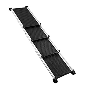 Petscene Dog Ramp Cat Stairs Pet Steps Ladder Extra-Long Aluminium for Car SUV Truck Click on image for further info.