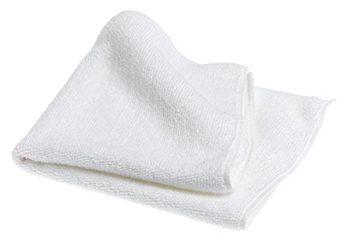 HUB City Industries 16MFT-W  16' x 16' White Microfiber Multi-Purpose Towels (Pack of 12)