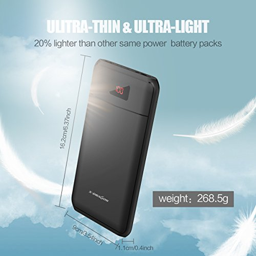 ability Bank X DRAGON 13000mAh particularly successful Lightest External Battery Charger Pack excessive acceleration cost double 2A feedback Digi ability present and bright LED for iPhones Androids ipad more Batteries