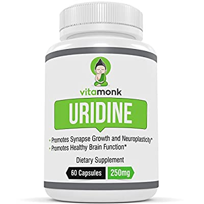 Uridine Monophosphate - NO Artificial Fillers by VitaMonk - Top Rated Supplement to Support Focus and Mental Clarity - Greatly Enhances Choline - 60 capsules / 60 servings