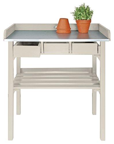 Esschert Design Garden Work Bench, White ()