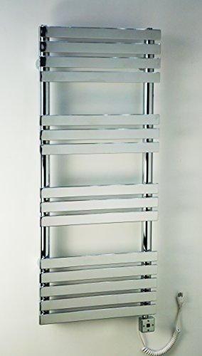 Heated Towel Bar Rack Wall Mount Rail Electric Bathroom Warmer and Space Heater R28C-500. CDM