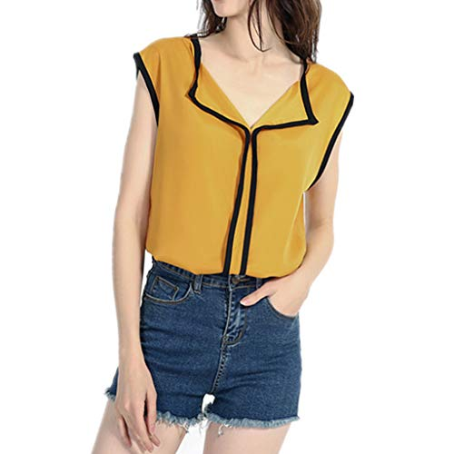 SMALLE_Clothing Sleeveless Chiffon Blouses for Women,SMALLE◕‿◕ Women's Elegant Casual Chiffon Shirt Work Office Blouse -