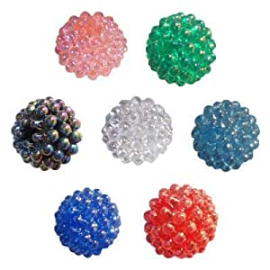 144 Multi-Colored Round Berry Beads