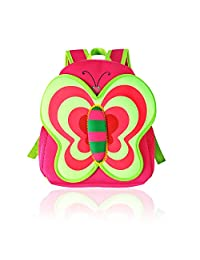 Gintai Children Toddler Kid's Backpack 3D Cute Zoo Animal Cartoon Pre School Hiking Backpack - Butterfly Pattern Pink
