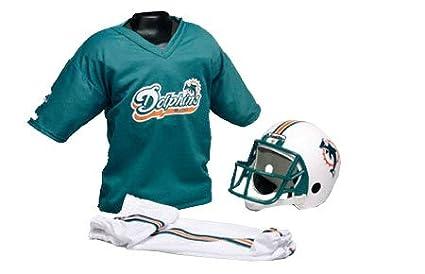 fc91d20e Amazon.com : Miami Dolphins Kids/Youth Football Helmet Uniform Set ...
