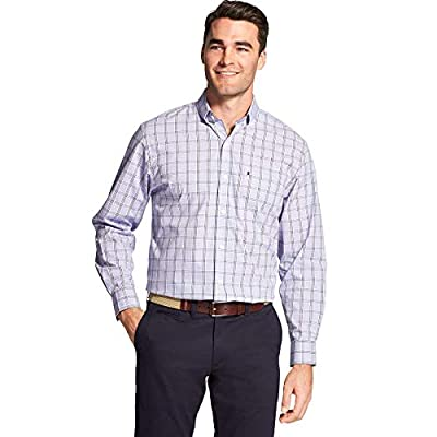 IZOD Men's Premium Performance Natural Stretch Check Long Sleeve Shirt