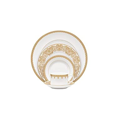 Waterford China Lismore Lace Gold 5 Piece Place Setting