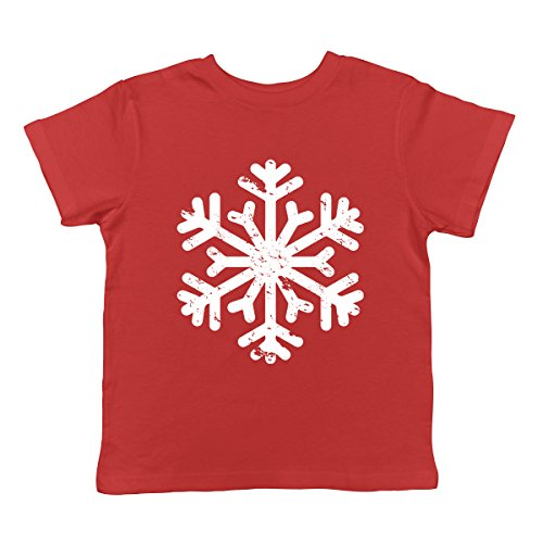 Vintage Snowflake Infant T-Shirt, SpiritForged Apparel Red 6 Months (Merry Christmas Jolly)