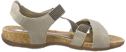 Con Mujer Sandalias steel Remonte Tira Vertical R3257 terra Gris Para xTYwEAqE