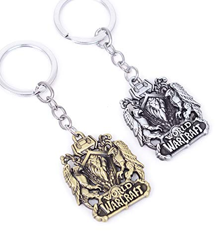 Pack of 2 World of Warcraft Game Keychain Pendant Charms Jewelry Gifts for Teens collections