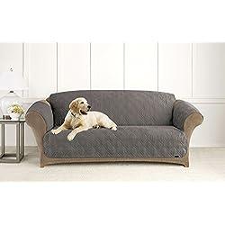Sure Fit Microfiber Pet - Sofa Slipcover - Dark Gray (SF44892)