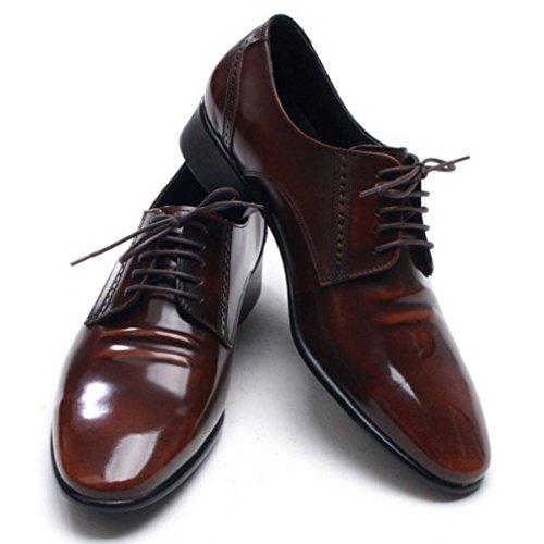 Epicstep Para Hombre Clásico, Simple, Vestido De Cuero Genuino, Formal, Negocio, Encaje, Zapatos, Oxfords, Marrón