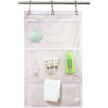 Shower Curtain Bathroom Organizer  9 Pockets  Perfect For Organizing Your  Home Bath. Organize