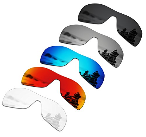 SmartVLT Set of 5 Men's Replacement Lenses for Oakley Antix Sunglass Combo Pack ()