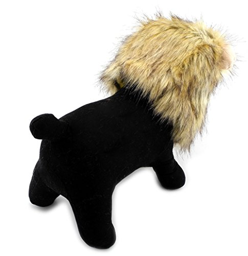 PEGASUS SELMAI Lion Mane for Small Dog Cat Costume Christmas Halloween Dress up Hair Clothes Soft Hairpiece Lion Wig Hat Yellow -