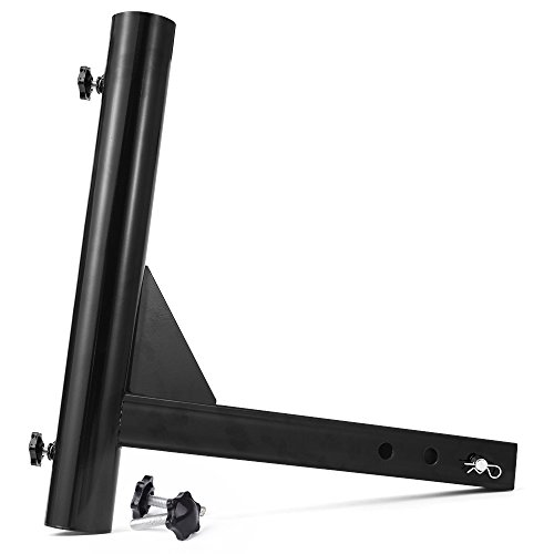 Check Out This MICTUNING Upgraded Version Hitch Mount Flagpole Holder with Anti-Wobble Screws Univer...
