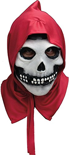 Misfits Halloween Costumes (Trick or Treat Studios Misfits The Fiend Hooded Full Head Mask, Red, One-Size)