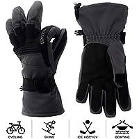 Mounchain Winter Snow Waterproof Motorcycle Ski Leather Gloves
