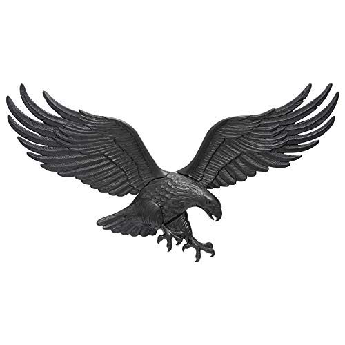 Whitehall Products Decorative Wall Eagle, 36-Inch, Black ()
