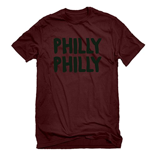 Indica Plateau Mens Philly Philly Large Maroon T-Shirt