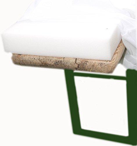 2er Set Schaumstoff Auflage Sitzpolster Bierbankauflage Bierbank 220 cm Bierzeltgarnitur wahlweise mit 2 oder 5 cm (5 cm Polsterung)