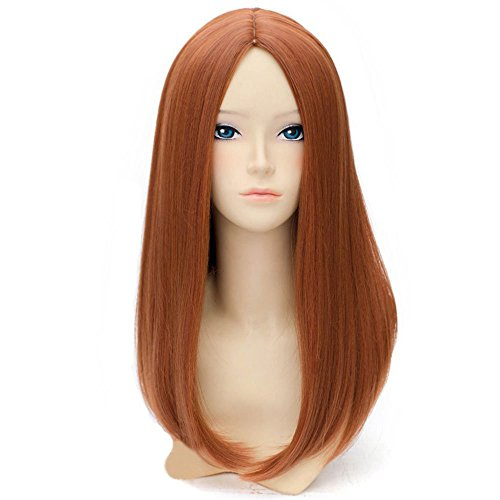 Orange Blossom Halloween Costume (BERON 20'' Long Straight Hair Cosplay Costume Party Wig with Wig Cap (Dark)