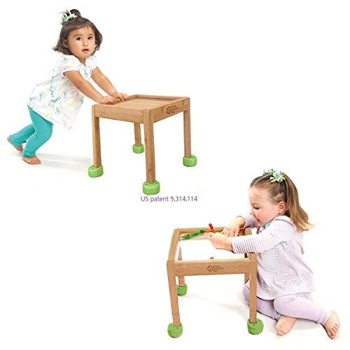 Little Balance Box 2-in-1: No Wheels Spring Feet, Girl Boy Baby Walker Push Stand Toys, Toddler Activity Table, Award Winning