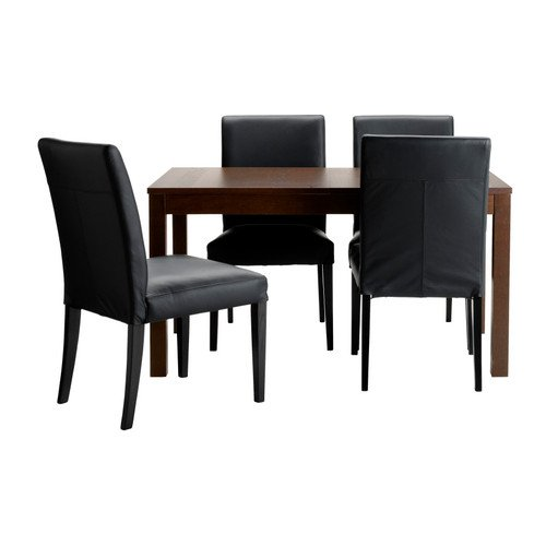 Ikea Table and 4 chairs, brown, Glose black 6204.82920.2614 (Sets Room Ikea Dining Furniture)