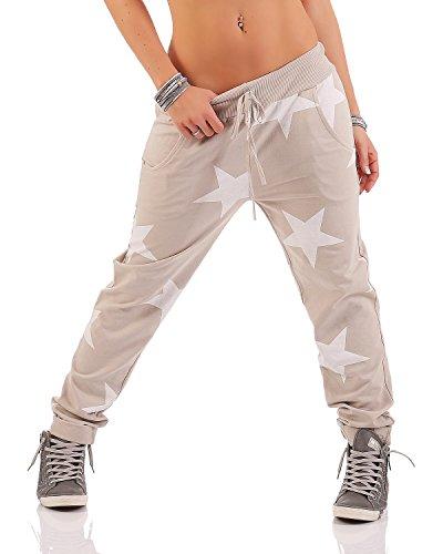 Unica Liberoyogapants Pantaloni 46 Boyfriend Big Zarmexx Il Larghi beige taglia Sportivi Per Star 40 Tempo 11714 Jogger f7qx0w1wd