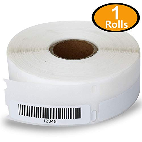 1 Rolls Dymo 30346 Compatible 1/2 x 1-7/8(13mm x 47mm) Multipurpose Library Barcode Labels