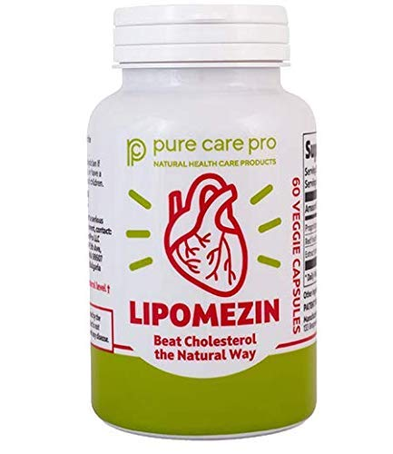 Lipomezin Herbal Supplement for High LDL Cholesterol Natural Heart Health and Brain Support Patented Formula High Quality Product 60 Vegetarian Capsules