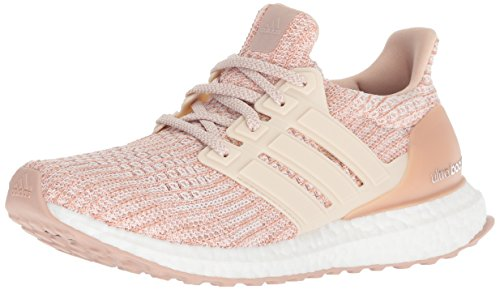 adidas Women's Ultraboost, ash pearl/linen/clear orange, 5.5 M US