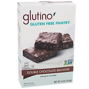 Glutino Gluten Free Pantry, Brownie Mix, Delightful Dessert, Double Chocolate, 16 (Double Chocolate Fudge Brownies)