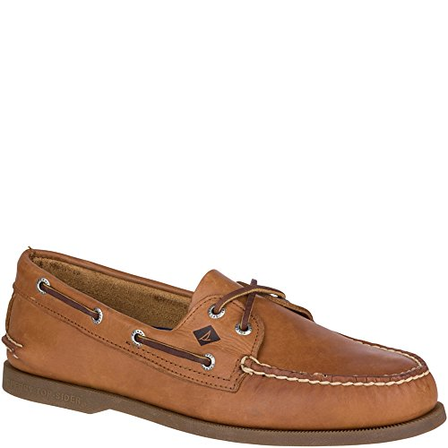 Sperry Top-Sider Men's A/O 2-Eye Boat Shoe,Sahara,8 S (Authentic Mens Leather Loafers Shoes)
